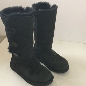 UGG Bailey button black suede tall boot
